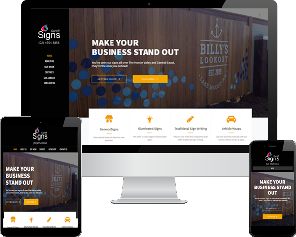 small business website design examples