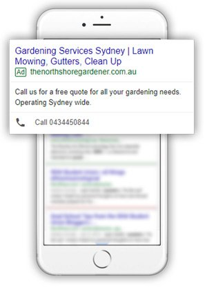 North Shore Gardener AdWords
