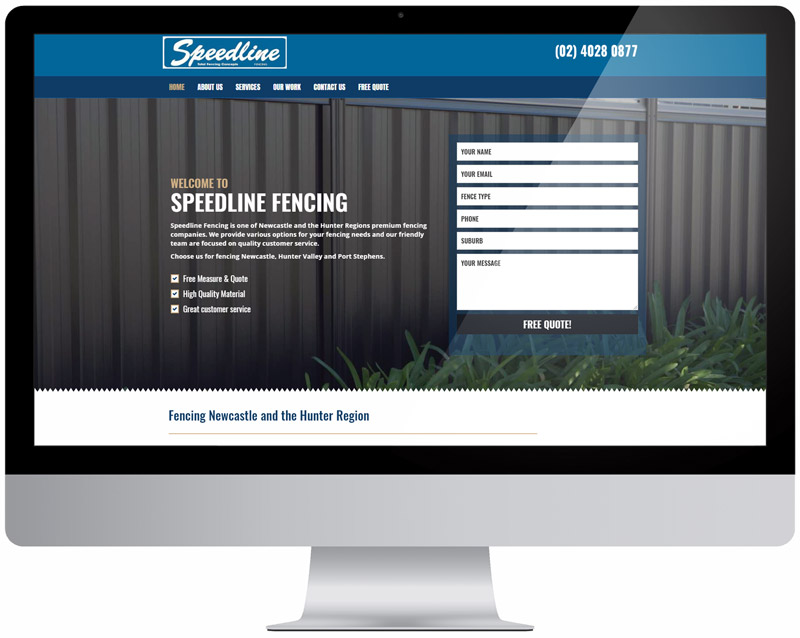 Website Design & SEO Sydney Speedline Fencing