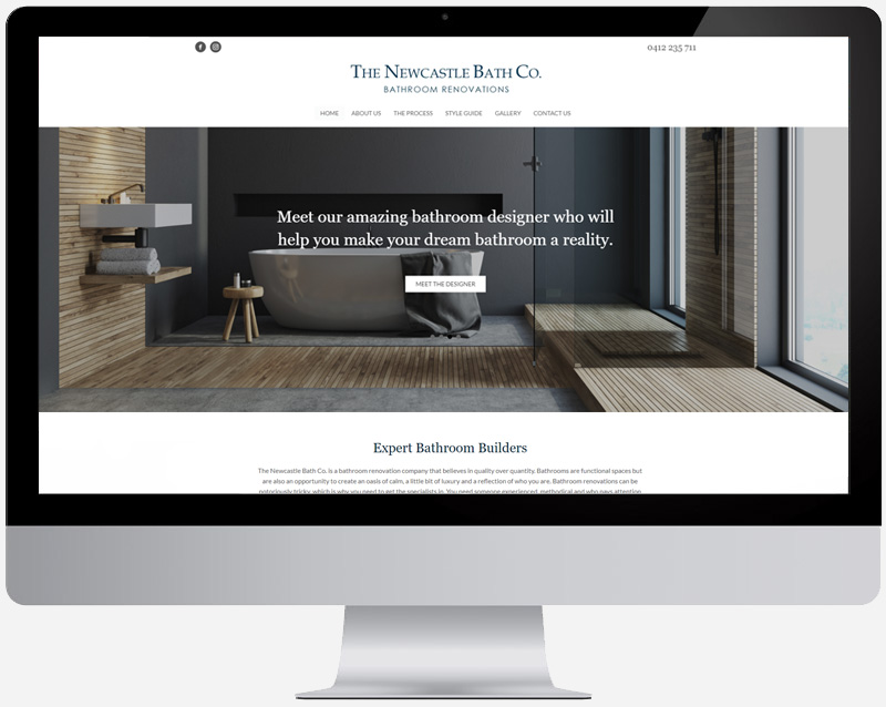 The Newcastle Bath Co. Web Design