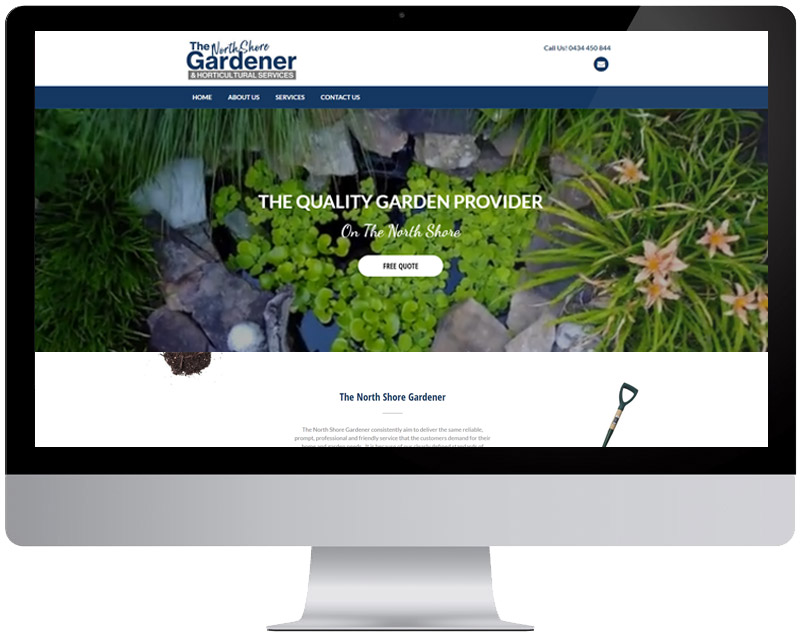 The North Shore Gardener Web Design