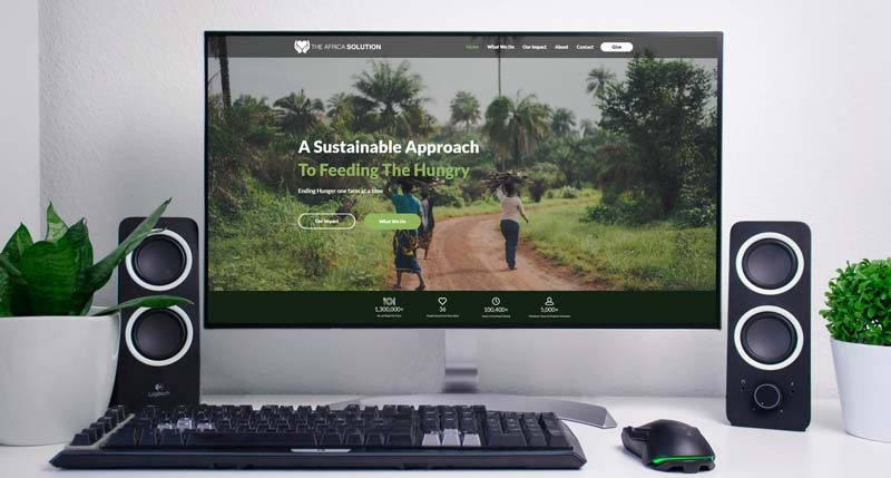The Africa Solution Website Design